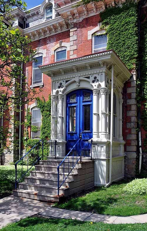 Second Empire doorway on Herkimer Street in Hamilton Ontario.